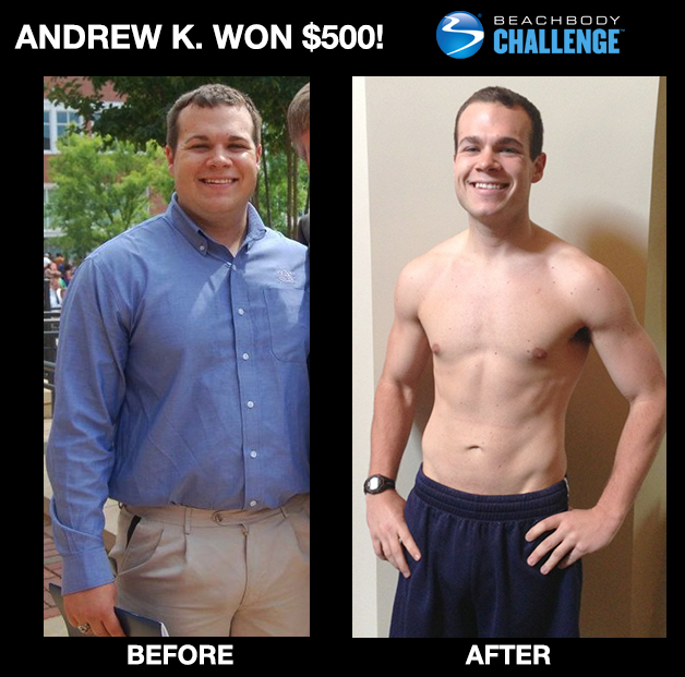 Andrew K 's P90X Transformation   Nikki Kuban Minton