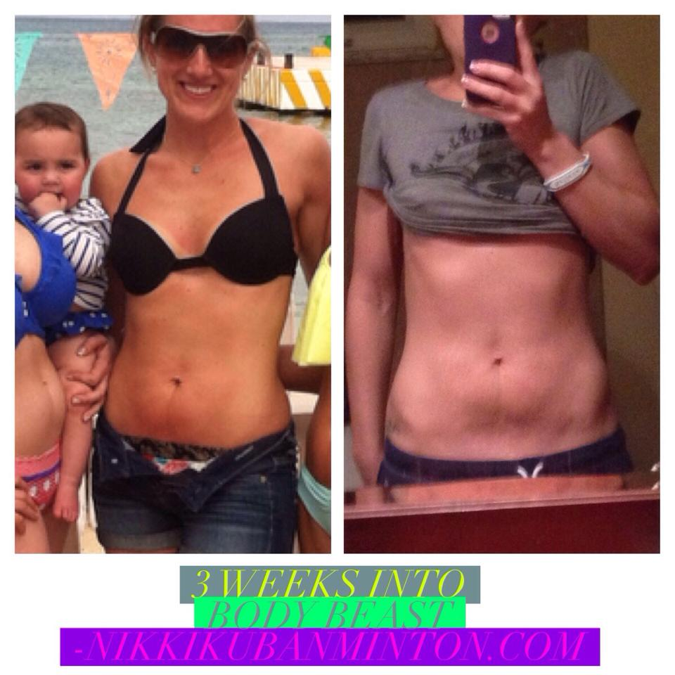 3 week Body Beast Transformation | Nikki Kuban Minton