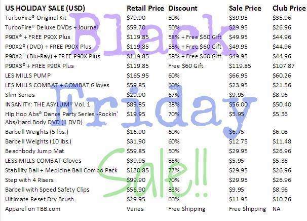 Beachbody, black friday deals 2014