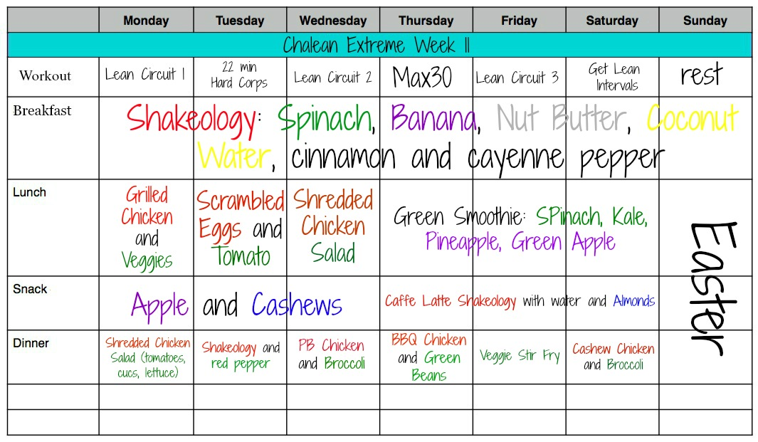 Meal plan with Diet Ideas and Recipe